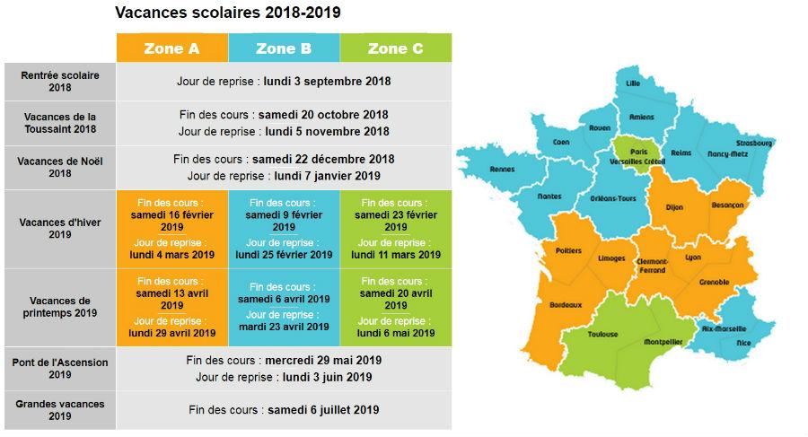 vacances-scolaires-2018-2019